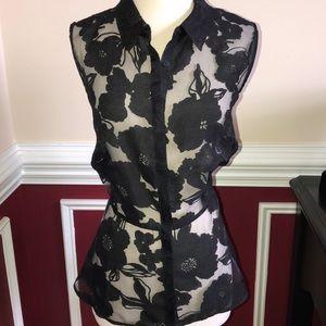 NWT black peplum blouse sz plus 0X